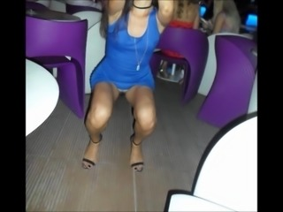 Sexy wife with no panties in many public places