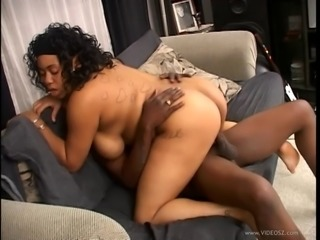 Pregnant bimbo moaning while riding big cock hardcore in interracial sex