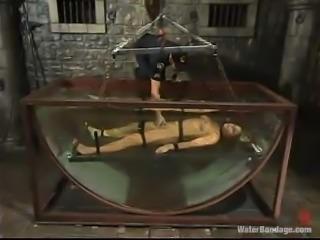 Prison guard punishes that petite blond convict