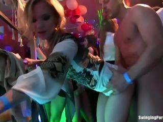 European cock sucking whores having a sexy time at a party