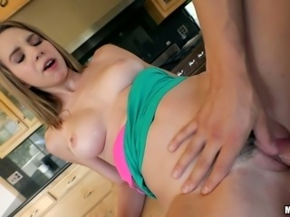 Crazy chick Cece Capella seduces boyfriend's friend and gives him blowjob