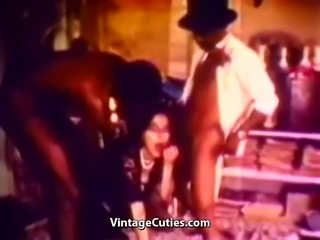 Interracial Sex with Funny Black Man (1960s Vintage)