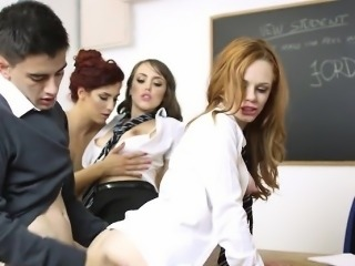 Perverted Teacher Has Orgy With Her Students