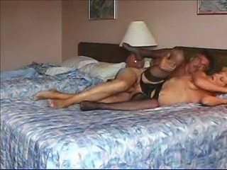 Hardcore anal sex with my mature blonde wife in cheap motel
