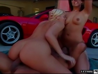 Alluring hot ass cowgirl in thong yells while her anal is throbbed