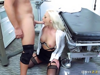Blonde gets orally fucked by Keiran