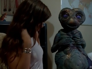 Stunning Alexis Capri masturbates for her beloved alien friend