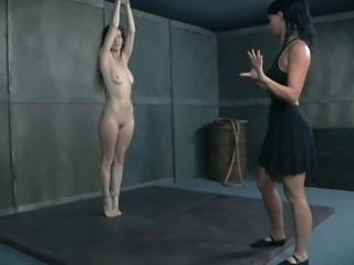 Paintoy Emma's worn out pussy is punished by young mistress