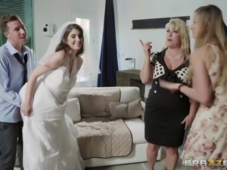 All Karina is trying to do as a new bride, is to get her pussy filled with...