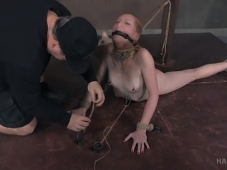 petite babe tied up and tried extreme bdsm