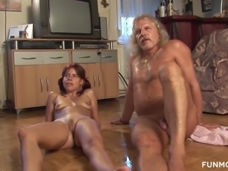 Weird horny German couples, old grandpas and skinny redheads get on sucking,...