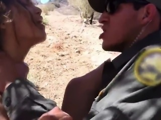 Latina police first time Border Jumper Puts Out Big Time!
