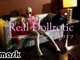 Real Dollrotic Gasmask&Double latex Cover