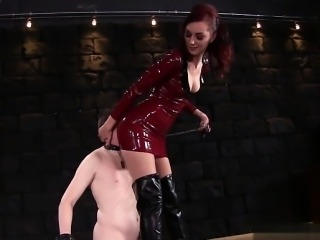 Hot pornstar femdom and cum eating