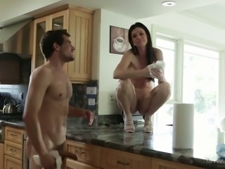Magnificent porn models of all ages filmed during warm up and work