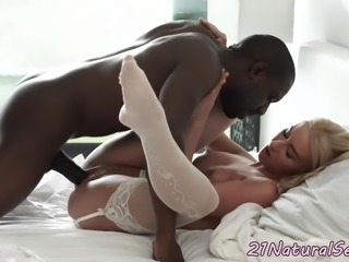 Classy beauty pounded by big black cock