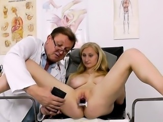 Natural tits doctor gaping and cumshot