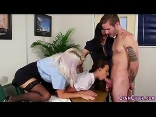 Kinky cfnm mistress jerk