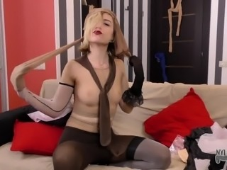 Crazy bitch wants to feed your pantyhose addiction