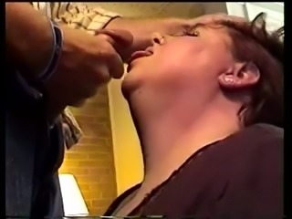 Aunt of my friend takes massive cock in her mouth and swallows cum