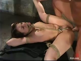 Torturing and Fucking Dana Dearmond in Bondage Video