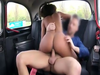 Black passenger nailed by pervert driver in the backseat