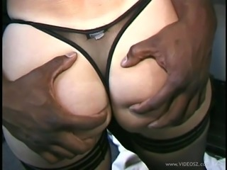 Blonde cougar with a great body enjoying a hardcore interracial fuck