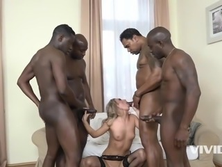 4 black studs fuck the hell out of this slut