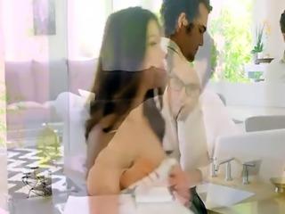 Dirty masseur anal fucks busty wife