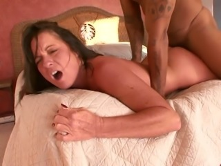 Ms Debbie plays a peeing game with a young man and then she fucks him