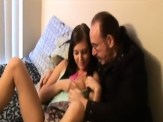 Young retro beauty jizzed by dirty old guy