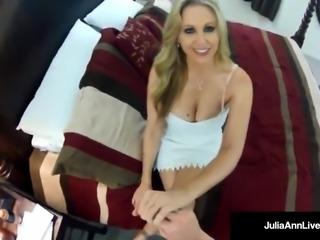 Hot Milf Julia Ann Secretly Recorded Fucking Guy on SpyCam!