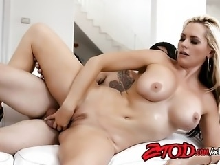 MILF Alena Croft Sucks and Gets Fucked