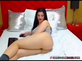 Beautiful chubby girl has big fat ass