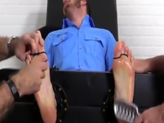 Xxx pissing foot photos gay first time Officer Christian Wilde Tickled