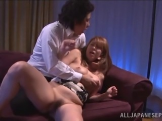 Naughty Japanese teacher gets banged doggystyle in reality clip
