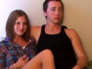 Retro teen couple trio with old pervert POV