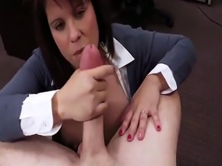 Hardcore fuck squirt MILF sells her husband's stuff for bail $$$
