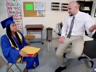Vivianna just received her college degree diploma, and was incredibly pleased...