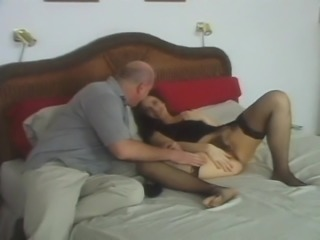 Sexy Gina Rome gets her tight hairy beaver deeply pounded on the bed