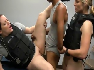 Blond milf get rocked first time Officer Jane spanked him around and