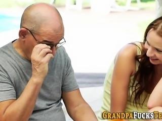 Teens face cum covered