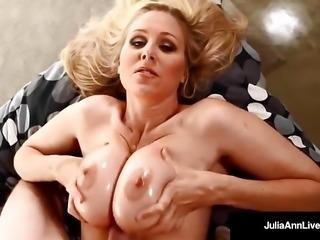 Sensual Milf Julia Ann Gets A Load Of Warm Jizz On Her Tits!