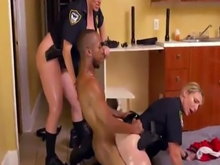 Dirty milf Black Male squatting in home gets our milf officers squatti