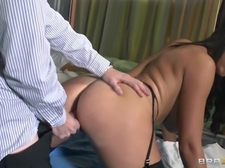 slutty doctor gets fucked from behind