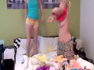 Teen gets horny watching aunt Best pals sleeping together