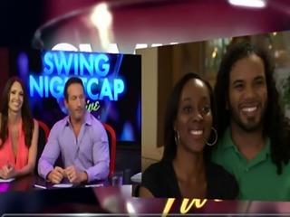 Swing Nightcap Live - season 1 ep. 2 with a kinky dark room licking ev