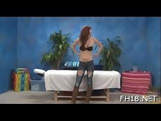 Ravishing babe likes massage