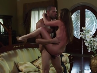Flexible babe with small tits does some acrobatic fucking