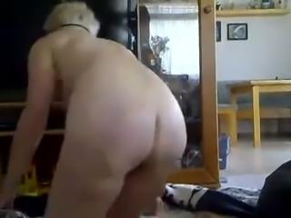 Nextdoor granny sucks my big dick and I drill her ass hole